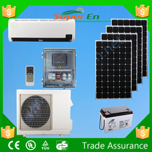off grid 100%solar air conditioner , 48v 12000btu cooling&heating pure dc powered solar air conditioner