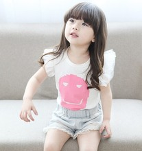 D94962T 2015 FASHION SUMMER BABY GIRL T SHIRTS