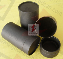Custom black carboard recycle paper tube