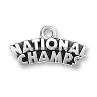 Free Shipping Antique Silver Tone National Champs Letter Charms For Bracelets Jewelry