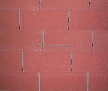 Red 3-tab asphalt roof shingle