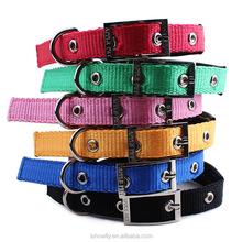 pet dog cat fabric leash collar colorful