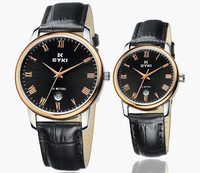 eyki 8663 моды Бизнес Лента из нержавеющей стали кварцевые часы пара таблиц