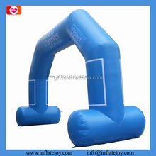 Popular outdoor entrance arch designs light blue balloon arch inflatable arch for advertising