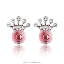 Fashion jewelry accessories,zinc alloy with rhodium plated earrings