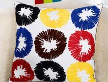 Fashion cotton OEM home decoration flocking throw pillow