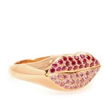 Rose Gold Kiss Pink Rhinestone Ring