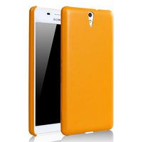 LZB New arrival PU leather back cover case for sony xperia c5