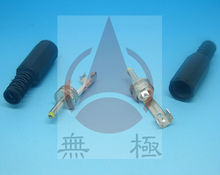 high current dc connector 2.0mm with ID 0.6 cable relief 9/14mm Shaft Length