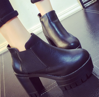 New trend autumn/winter best selling good quality pu leather women shoes high heel ankle boot ladies boots