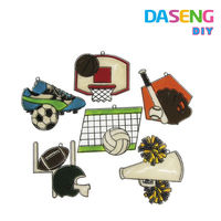 (2 dz) Plastic Sports Suncatchers