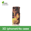 for iphone4/4s phone cases glossy/frosted blank 3D sublimation printing cover