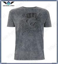 custom sexy tshirt wholesale soft fashion stone washed tshirt for man