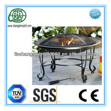 New Outdoor Classics Round Cast Iron patio ideas with fire pit with Copper Finish Patio Furniture