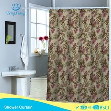 Flower Garden Collection printing Polyester Shower Curtain