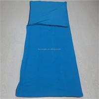 Plain color Fleece sleeping sack, Portable camping warm sleeping bag