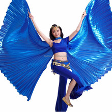 BestDance Egyptian Egypt Belly Dance bifurcate open on the back Isis Wings with two sticks