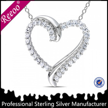 New product cheap heart shaped custom made charms wholesale