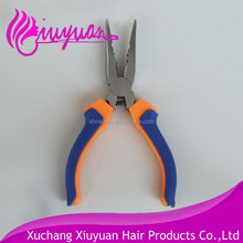 Professional hair extension stainless steel wire cutter plier long nose clamp pliers