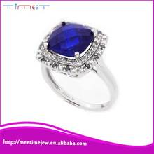 Fashion jewelry ring supplier white women sterling silver ring
