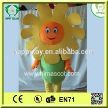 hi ce yeni öğe 2015 sıcak satış komik özelleştirilmiş mutlu ayçiçeği maskot kostüm parti