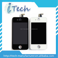 Hot product for iphone 4s complete front assembly lcd digitizer, for apple iphone 4s high copy lcd and digitizer