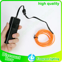 2.3mm el wire,3 meters el wire with 2AA inverter,10 colors available