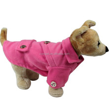Dog Clothes Spring & Autumn Peach Pet Dog Woolen Coat