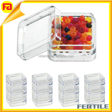 "12pc Clear Acrylic Bead Display Box Containers - 1-1/4"" x 1-1/4"""