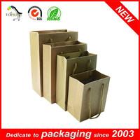 Paper Gift Bags With handles Brown Twist Kraft Paper Bag Printing