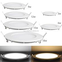 round & square 3w 6w 9w 12w 15w 18w 24w ultra thin led panel light for home office