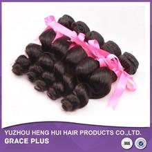 Grade 7A 100% human hair virgin brazilian loose curl hair, true lengths hair