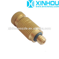Low and high pressure anti-drop water spray misting fog spray nozzle