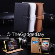 Hot selling Wholesale China Stand Real Leather Wallet Leather Flip Cover Case for Nokia Lumia 930 with Belt Clip
