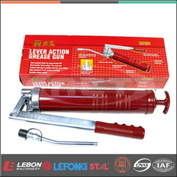 Hand operated Grease gun lever action gun with standard grease gun cartridges