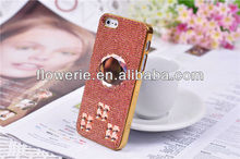FL145 fashion colorful Color gradient blue Sapphire agate stone Music tune full diamond crystal case for iphone 4 iphone 5