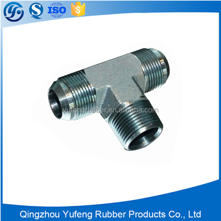 Supply hydraulic fitting coupling adapter tee tube