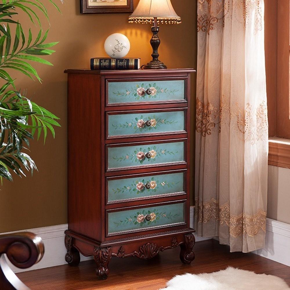 Makeup Wooden Clothes Storage Cabinet