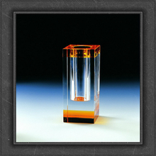 short lead time optical glass crystal vase for liabrary decoration