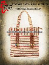 2013 fashionable custom shopping beach tote bag for lady