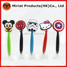 Novelty promotion soft pvc decorating ballpoint pen