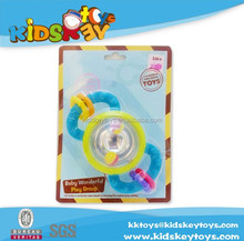 spin plastic ball Baby toys ,baby rattle plastic ring bell