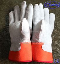 Cow split Cow split leather Oil industrial protective gloves 2012