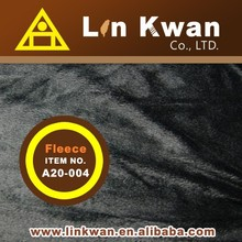 Linkwan LK A20-004 black short hair plush fleece for garment knit fabric