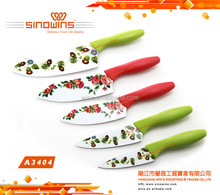 A3404 Flowers Non-stick coating Stainless Steel Knife with ABS Handle