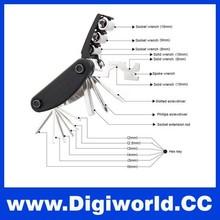 16 in 1 Multi Bicycle Flywheel Wrench Tools Bike Repair Kit