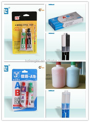 China Acrylic resin adhesive manufacturer , clear acrylic AB glue for daily repairing