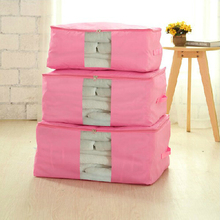 Colorful Quilt Storage Bags High Quality Clothing Storage Pouch With Window