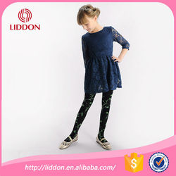 Safety and soft children girl in black silk stockings supply samples free