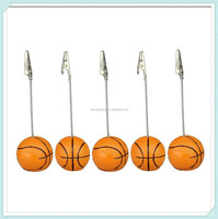 Resin basket ball Wire recipe desk card note memo photo clip holder